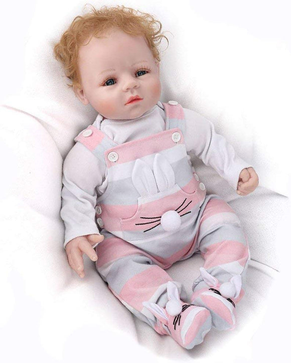 Kaydora Reborn Baby Doll 22 Inch Handmade Realistic Weighted Doll Reborn Baby With A Cute Bear, Named David