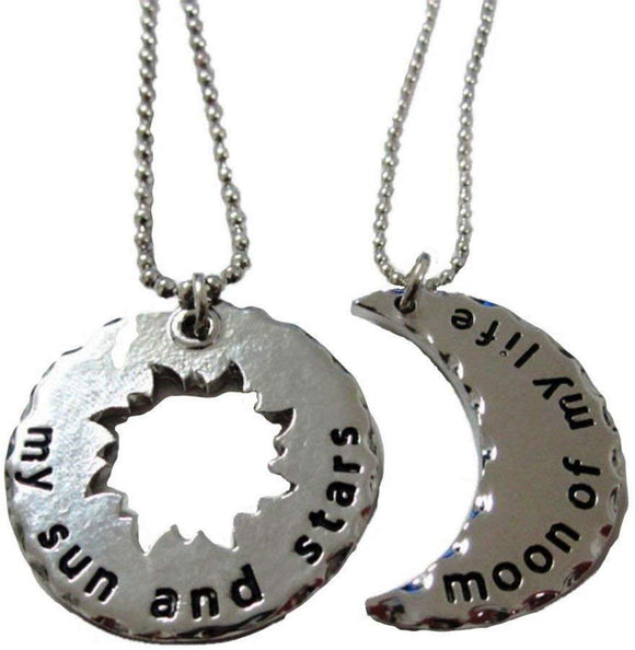 Game Of Thrones Set Of 2 Sun & Moon Pendants His And Hers Pendant Necklace Set