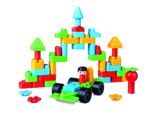 Hape 760007 Polym Creative City Kit Building Blocks, Multicolor