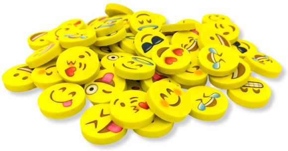 Emoji Erasers, Ohill Pack Emoji Pencil Erasers 16 Emoticons Novelty Erasers For Party Favors School Classroom Prizes Rewards