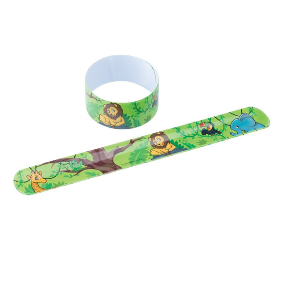 Jungle Friends Slap Bracelets - Prizes 36 Per Pack