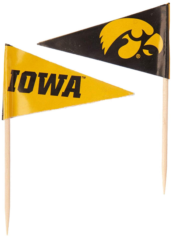 Ncaa Iowa Hawkeyes Toothpickstoothpicks 36 Piece Pennant Style Fanpicks, Team Colors, One Size