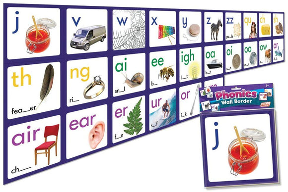 Junior Learning Phonics Wall Border Educational Action Games