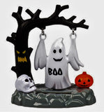 Halloween Solar Swinging Witch And Ghost, 2-Pc Set By Greenbrier