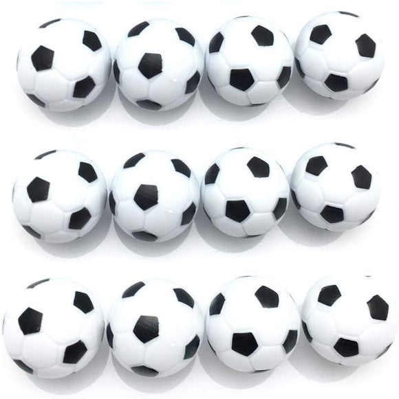 Fqtanju Table Soccer Foosball Replaceable Balls, Black And White,12Pcs, Diameter 32Mm