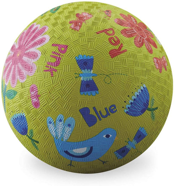 Crocodile Creek Garden Colors Playground Ball, Lime Green, 7