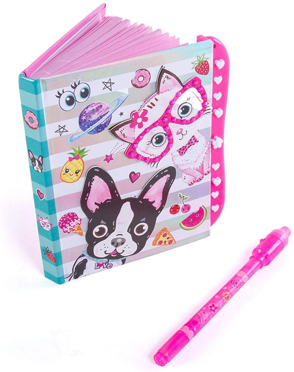 Hot Focus Best Pals Secret Diary Passcode Lock Invisible Ink Pen  6 Journal Notebook 100 Double Sided Lined Pages Kids