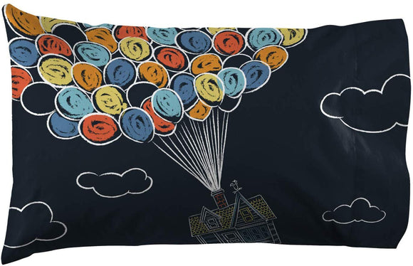 Jay Franco Pixar Up Pillowcase - Double-Sided Kids Super Soft Bedding (Official Pixar Product)