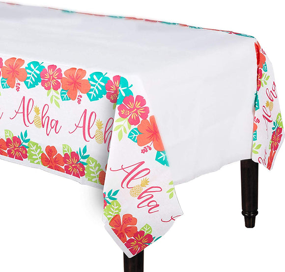 Amscan 571953 Party Supplies Aloha Paper Table Cover, 54