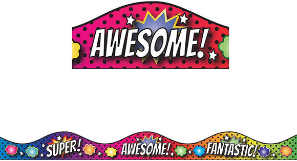 Ashley Productions Superhero & Scallop Magnetic Border