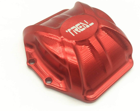 Treal Cnc Machined Aluminum Axle Diff Gear Cover For Axial Wraith 1:10 Rc Car - Red