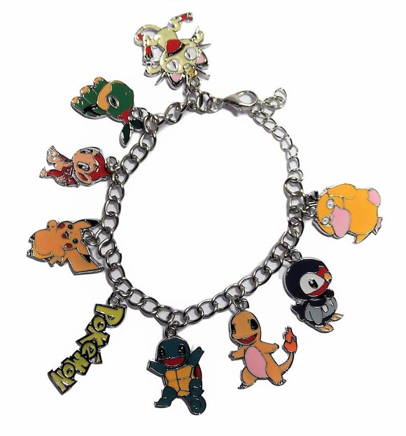 New Horizons Production Pokemon Video Game Series Assorted Metal Charms Bracelet