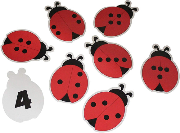 Curious Minds Busy Bags Ladybug Number Subsidizing Puzzle - Counting Activity - One -To - One Correspondence