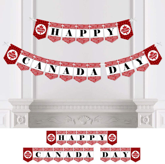 Big Dot Of Happiness Canada Day - Canadian Party Bunting Banner - Party Decorations - Happy Canada Day