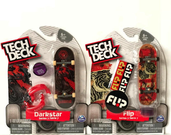 Tech Deck Darkstar & Flip Series 7 Fingerboard Toy Skateboard Set Bundle Of 2