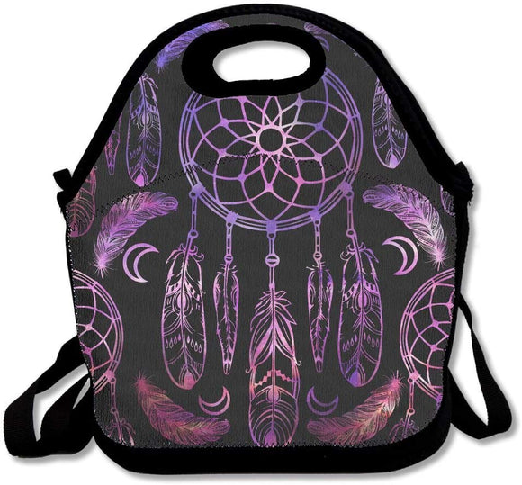 Dream Catcher Tribal Indian Symbol Lunch Tote Insulated Reusable Picnic Lunch Bags Boxes For Men Women Adults Kids Toddler Nurses