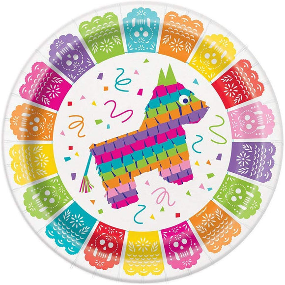 Mexican Fiesta Party Paper Plate, 8 Ct.