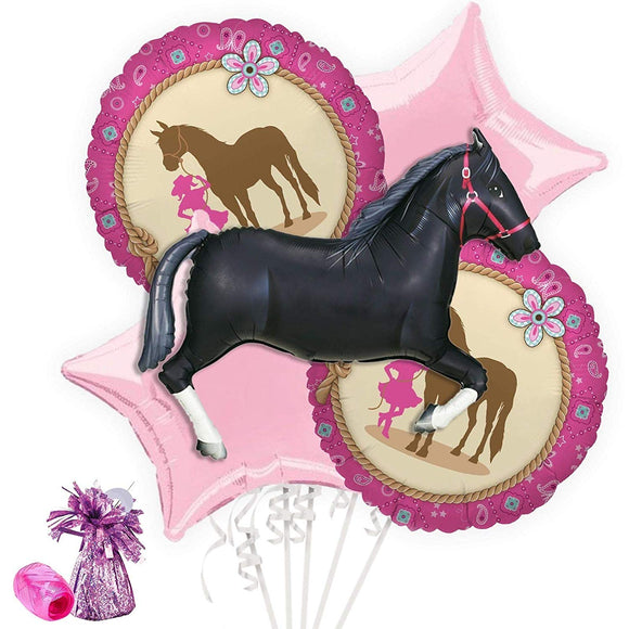 Costume Supercenter Western Cowgirl Party Balloon Bouquet Kit