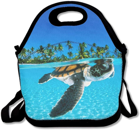 Sea Turtle Lunch Bag Lunch Tote Bag Travel School Picnic Lunch Box For Men & Women & Kids
