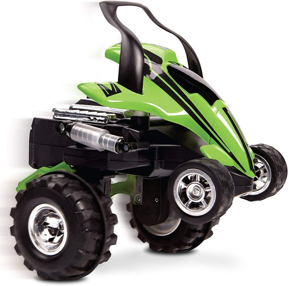 Sharper Image Rc Street Savage Stunt Car, Perform 360 Degree Spins, Wheelies, Jumps, And More, Full Function Wireless Radio Remote Control, All Terrain Tires, Spring Loaded Shocks, Green/Black 49 Mhz