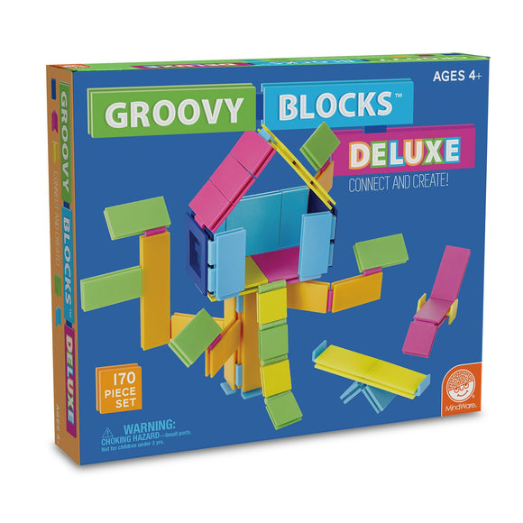 Mindware Groovy Blocks Building Set (170 Pc Deluxe Set)