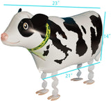 "Riy Pet Walking Animal Foil Balloons For Party Decorations Kids Party Favors Cow (About 16""-25"")"