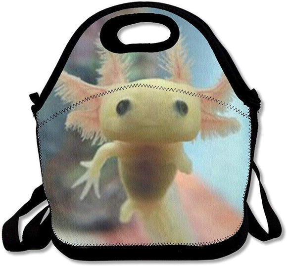 Staropor Reusable Lunch Bag Baby Axolotl Food Handbag Custom Lunch Holder Printed Lunch Tote Bag Multi-Function Lunch Box Organizer For Adults And Kids