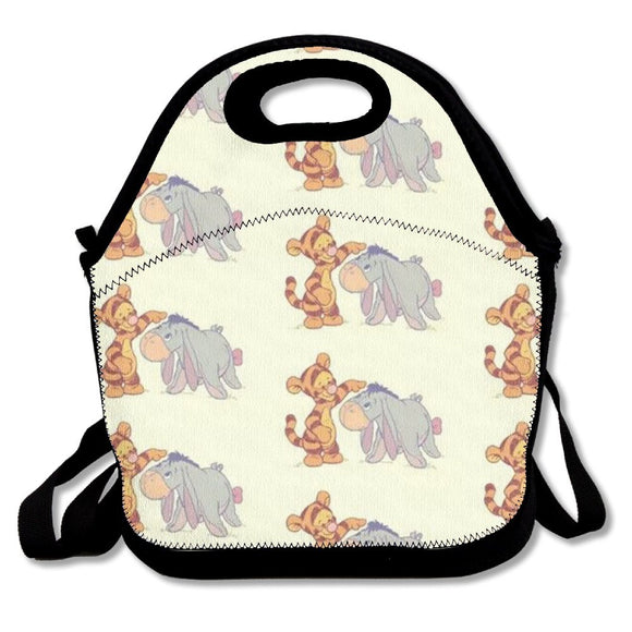 Tigger And Eyeore Fashion Cute Lunch Bag Lunch Backpack Casual Lunch Box Lunchboxes Lunch Pouch Durable Lunch Tote For Kids And Adults