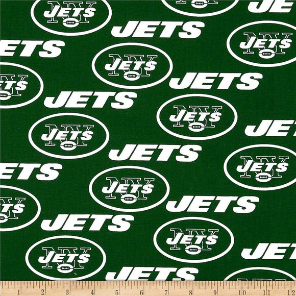 Zen Creative Designs 100% Cotton Nfl Sports Team New York Jets Green Multi-Print Window Valance Panel/Kids Nursery Window Treatment Decor (20