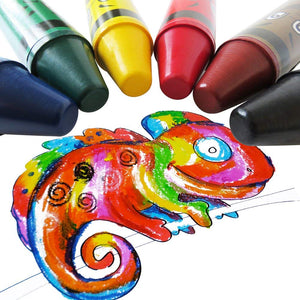 Histar Jumbo Crayons 6 Colors Fat Crayons Easy-Grap Kids Chunky Crayons Portable Washable Large Crayons, Durable Big Crayons, Safty Art Tools