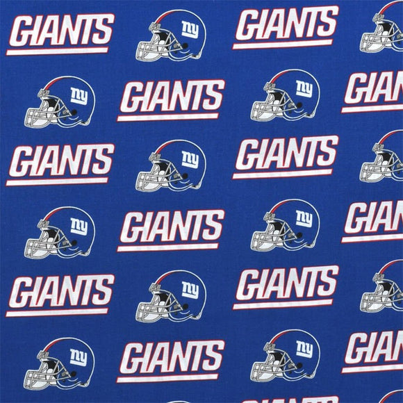 Zen Creative Designs 100% Cotton Nfl Sports Team New York Giants Blue Multi-Print Window Valance Panel/Kids Nursery Window Treatment Decor (14