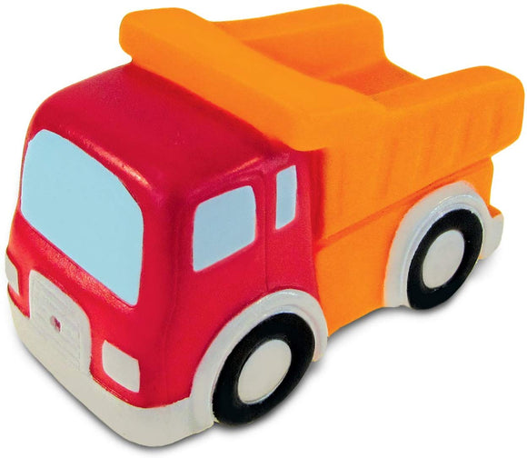 Puzzled Dump Truck Rubber Squirter Bath Buddy Bath Toy - Vehicles Collection - 3 Inch - Affordable Gift For Your Little One - Item #2790