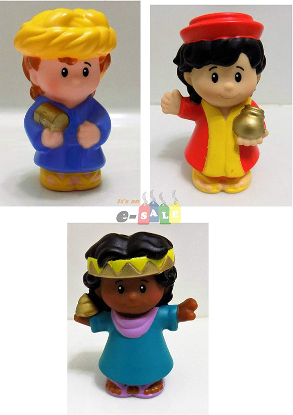 Fisher Price Little People Nativity Manger Replacement Three (3) Wise Man With Gifts