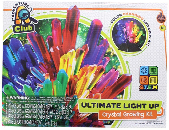 Adventure Club Ultimate Light-Up Crystal Growing Kit