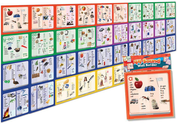 Junior Learning 44 Sound Wall Border Educational Action Games