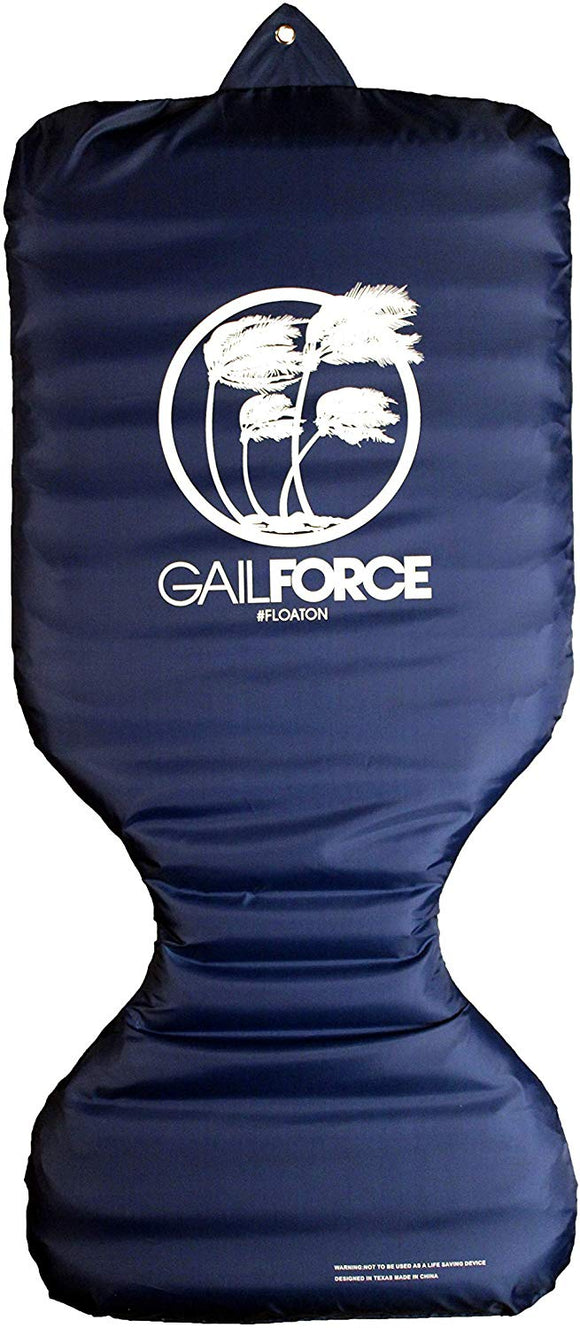 Gail Force Water Sports Travel Inflatable Saddle Float - Navy
