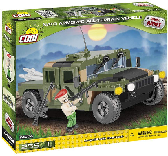 Cobi Nato Armored All-Terrain Vehicle Building Kit, Green
