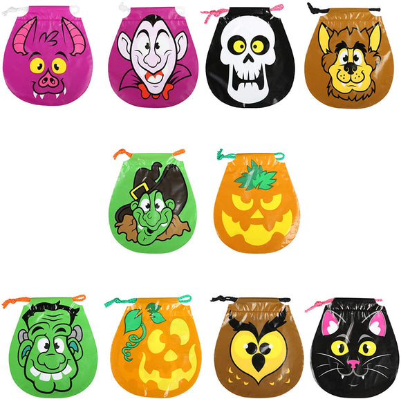 Gwhole Halloween Drawstring Goody Bags Treat Bags For Halloween Party Favors,10 Style
