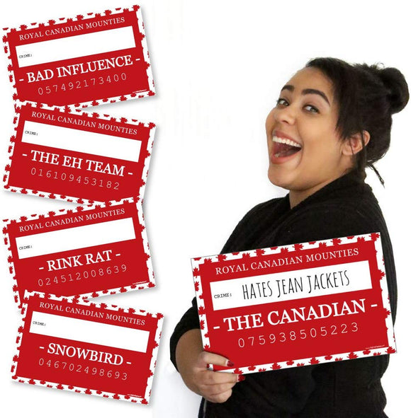 Big Dot Of Happiness Canada Day - Canadian Party Mug Shots - Photo Booth Props Canadian Party Mugshot Signs - 20 Count