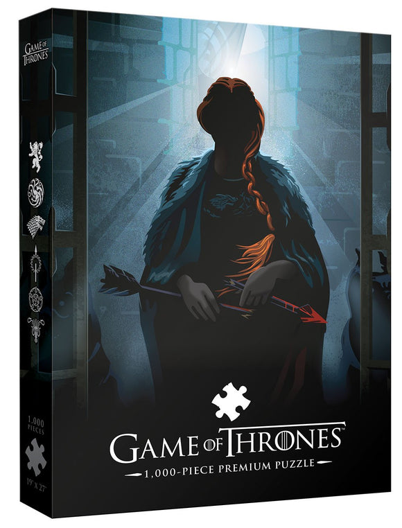 Usaopoly Game Of Thrones Premium Puzzle: Your Name Will Disapear 1000 Piece Puzzle | A Beautiful Death Series Art Collectable Jigsaw Puzzles
