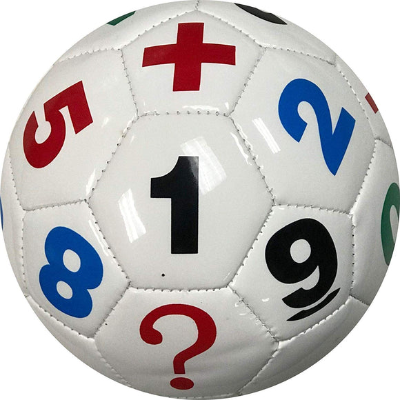 Mini Soccer Ball White Learn Numbers Math Symbols