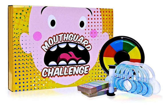 Simply Addictive Games Family Mouth Guard Game - The Family Edition Mouthpiece Challenge (Ages 10+)