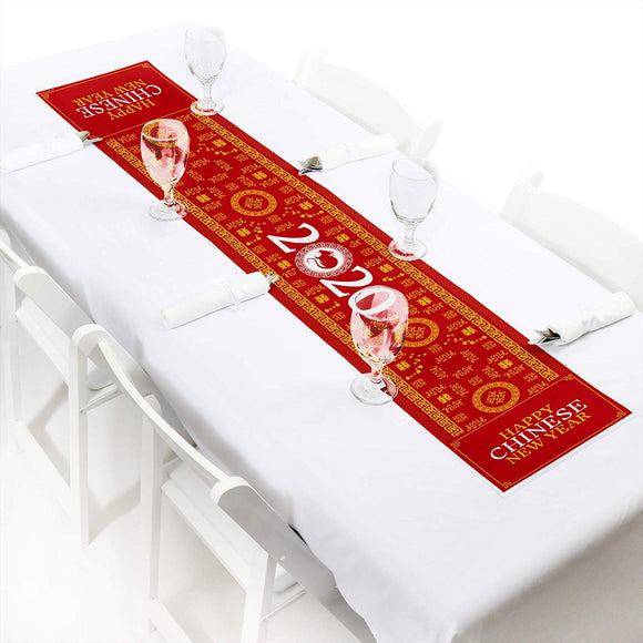Big Dot Of Happiness Chinese New Year - Petite 2020 Year Of The Rat Party Paper Table Runner - 12 X 60 Inches