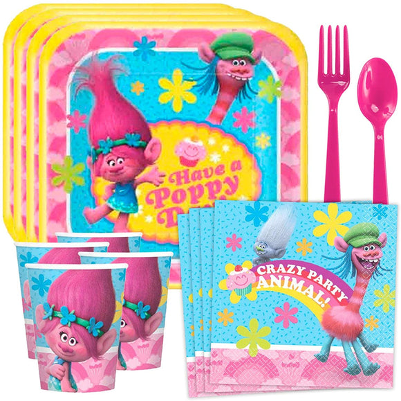 Costume Supercenter Trolls Standard Tableware Kit (Serves 8)