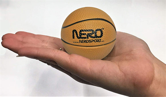 Nero Ns-Rs High Bounce Rubber Mini Basketball 2.5 Inch Great For The Streets Park Back Yard Bulk Price (Brown)