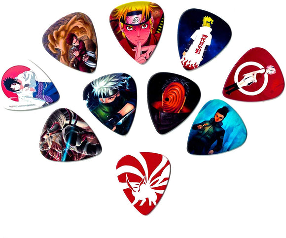 Naruto Guitar Picks (10 Medium Picks In A Packet)[Perfect Gift For Naruto Fans] Collectibles
