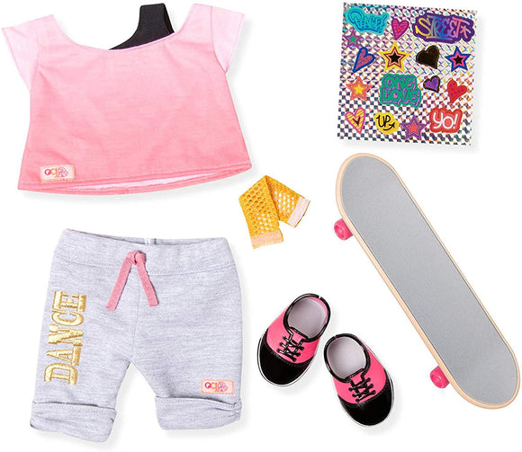 Our Generation Skateboard Outfit And Accessories For 18 Dolls