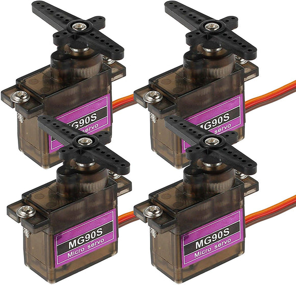 Autoutlet 4Pcs Mg90S Metal Gear Micro Servo High Speed For Rc Helicopter Car Boat Racing