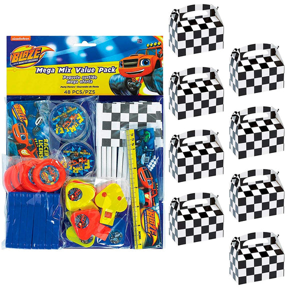 Birthdayexpress Blaze And The Monster Machines Party Supplies Filled Favor Box Kit (For 8 Guests)
