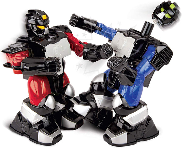 Black Series Rc Toy Boxing Battle Robots, Deliver Punches & Jabs In Fights, Dual Rc Wireless Controllers, Multi-Direction Movement W/Full Motion, Battery-Operated, Blue/Red